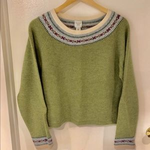 Garnet Hill Fair Isle Angora Blend Sweater